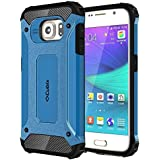 Cubix Impact Hybrid Armor Defender Case For Samsung Galaxy S6 (Blue)