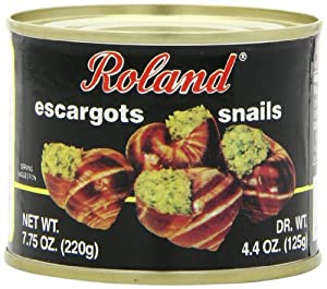 Roland Giant Escargot Snails, 7.75-Ounce Cans (Pack of 12)