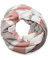 styleBREAKER Streifen Muster Loop Schlauchschal, weiche und warme Qualität, Unisex 01018059