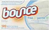 Bounce Free & Gentle Fabric Softener Sheets, 120 Count
