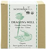 SerendipiTea Lung Ching, Dragon's Well, China, Organic Green Tea, 4-Ounce Boxes (Pack of 2)