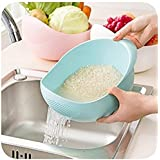 SHOPEE BRANDED Big Size Rice Pulses Fruits Vegetable Noodles Pasta Washing Bowl & Strainer (ASSORTED COLOR)