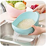 #2: SHOPEE BRANDED Big Size Rice Pulses Fruits Vegetable Noodles Pasta Washing Bowl & Strainer (ASSORTED COLOR)