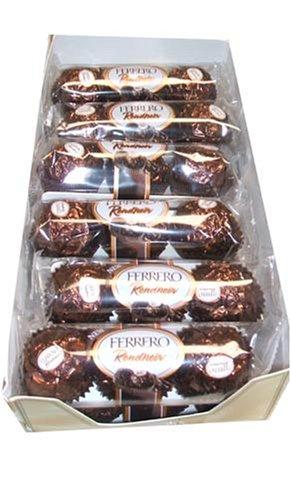 Ferrero Rondnoir Dark Chocolate Rocher, 3 Piece Sleeves (Pack of 12)