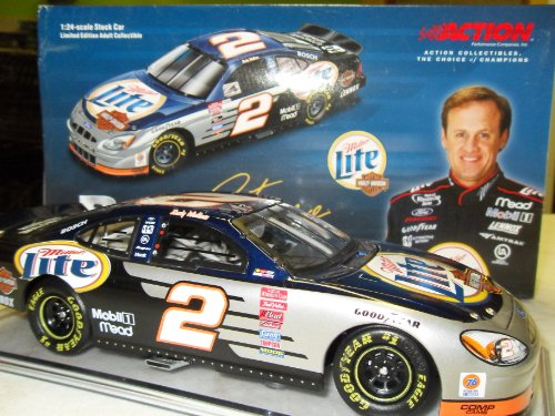 Rusty Wallace Miller Lite Harley-Davidson #2 2001 Taurus W  Stand NASCAR Action... by NASCAR Action Racing Collectibles