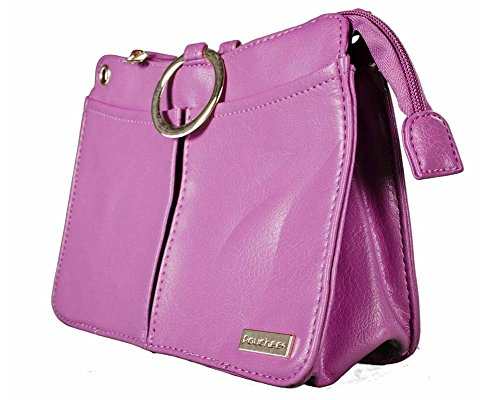 Pouchee Plus Deluxe - Purse Organizer - with Zipper and Removable Strap-Radiant Orchid Pebble