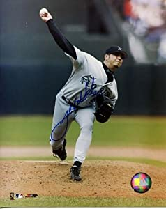 Josh Beckett Autographed Florida Marlins 8x10 Photo - Autographed MLB Photos by Sports+Memorabilia