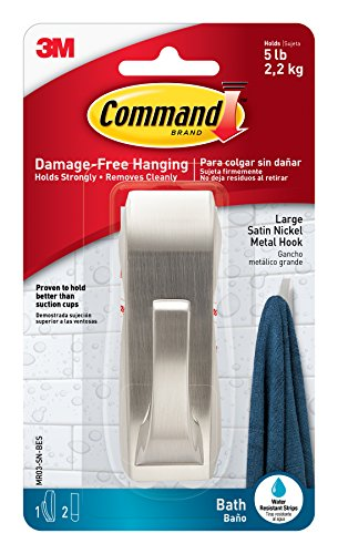 command-modern-reflections-metal-bath-hook-large-satin-nickel-1-hook-with-water-resistant-strips-mr0