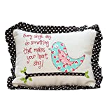 Glory Haus Do Something Bird Pillow, 7 x 11-Inch