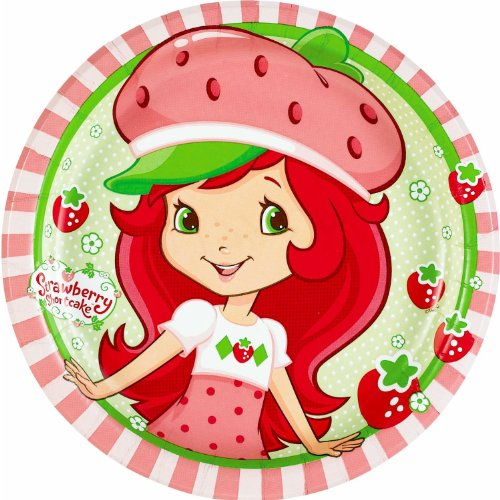 Strawberry Short Cake 7-in Plates 8 Count