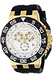 Swiss Legend Men's 10125-YG-02 Challenger Gold-Tone Watch with Black Silicone Band
