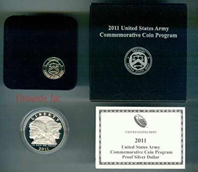 2011-S US Army Proof Silver Dollar