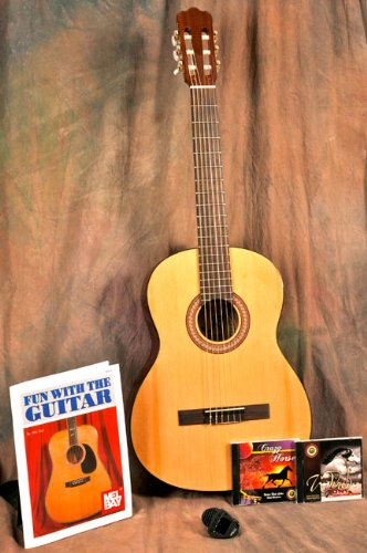 r12n-j-reynolds-1-2-size-nylon-string-34-inch-student-guitar-starter-set-w-book-2-cds-bag-tuner