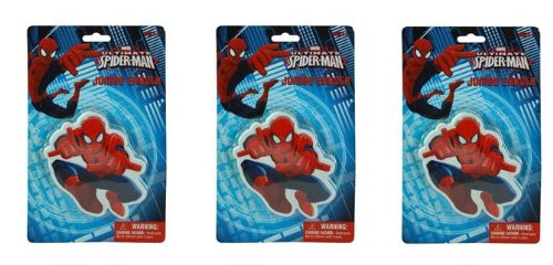 "Spiderman Jumbo Eraser Approx 5"" Tall x 3 pc"