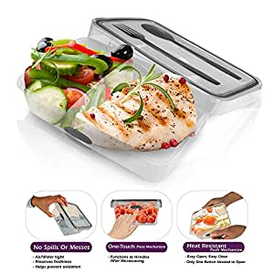 bento lunch box container divided with cutlery included microwav. Black Bedroom Furniture Sets. Home Design Ideas