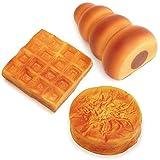 マザーガーデン おままごと やわらか パン 3個セット チョココロネ・ワッフル・クイニーアマン