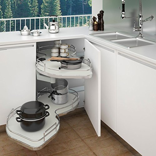 Rev-A-Shelf - 5372-45-GR-L  - Two-Tier Blind Corner Shelf (Left)