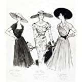 Fashion Sketch, by Marcel Fromenti (V&A Custom Print)