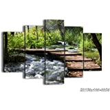 """Canvas Picture - 5 Piece - Total size: Width 59,1""""(150cm), Height 39,4""""(100cm) wall art print - Completely framed - Ready to Hang - multi panel - five 5 Part Panels - photo no. 0356 - EA150x100-0356"""