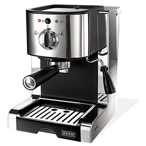 Espresso Perfect Ultimate 20 bar, Espresso-Siebträgermaschine mit italienischer 20 bar Profi-Pumpe und integriertem Milchaufschäumer, Chrom