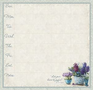 Legacy of Faith Magnetic Weekly Reminder Pad, Spring Window (WKR9507)