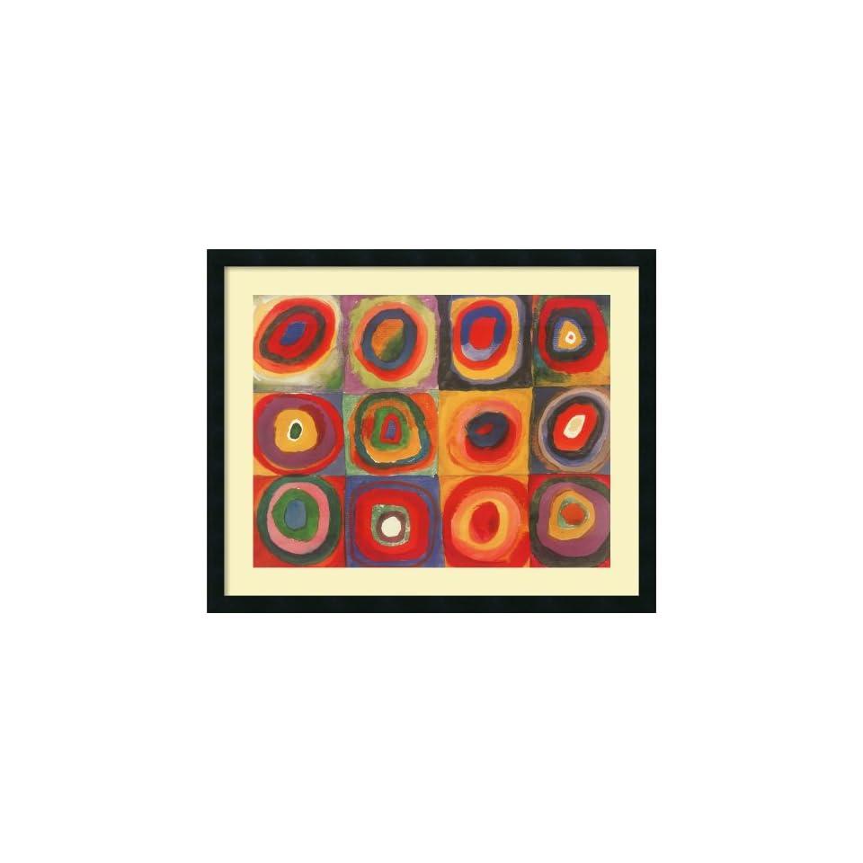 Farbstudie Quadrate, 1913 Framed Print by Wassily Kandinsky Framed