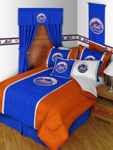 Mlb New York Mets Queen Comforter Pillow Shams Mvp Bed Set