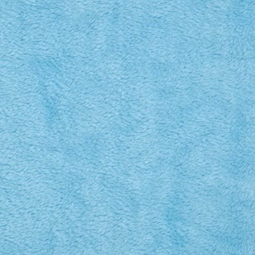 Light Blue Solid Minky Fabric, 60