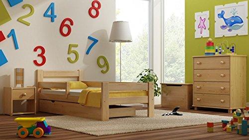 Kinderbett TOMI MAX Massivholz, inkl.Kokosmatratze und Schublade (160x70cm) günstig online kaufen