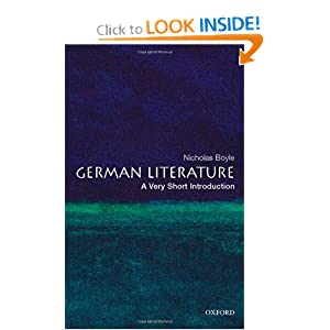 German Literature - A Very Short Introduction Nicholas Boyle