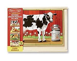Melissa & Doug Farm Puzzles in a Box