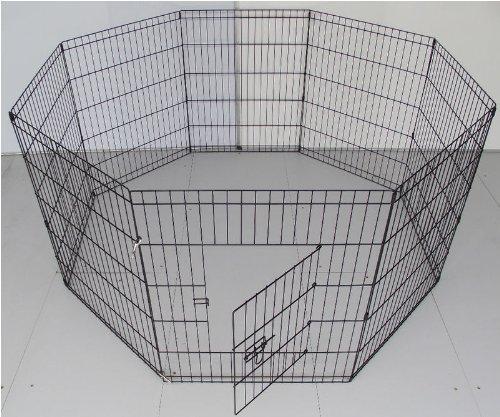 bunny-business-parc-8-panneaux-pour-lapin-cochon-dinde-chien-ou-chat-noir-taille-s