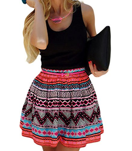 christmas-peggynco-womens-black-tank-top-tribal-print-skirt-flared-dress-size-s