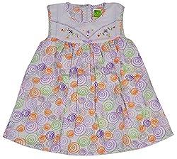 Be BeBo Girl's cotton Regular Fit Dress (536, Violet, 2-3yrs)