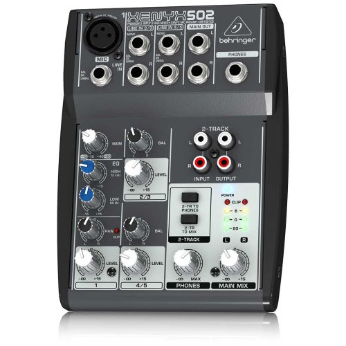Behringer Xenyx502 5-Channel Mixer front-12585