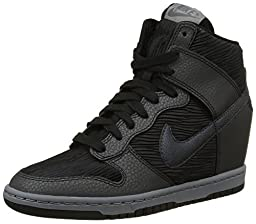 Nike Women\'s Dunk Sky Hi Black/Mtlc Hematite/Blk/Cl Gry Casual Shoe 7 Women US