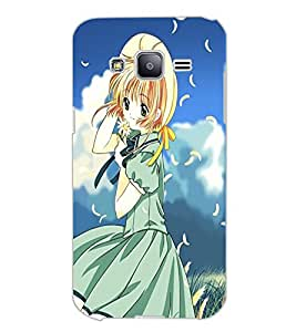 SAMSUNG GALAXY J2 BEAUTIFUL GIRL Back Cover by PRINTSWAG