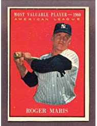 1961 Topps #478 Roger Maris MVP Yankees EX-MT 208464 Kit Young Cards sale off 2015