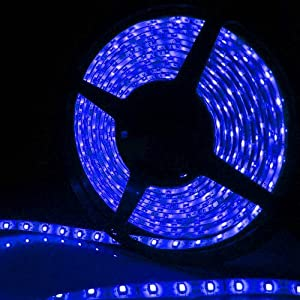 IMOS Blue Waterproof 5050 300leds 5M(16.4ft) LED Flexible Strip Lights, Twice Brighter Than 3528 ever Before by Allround Housewife