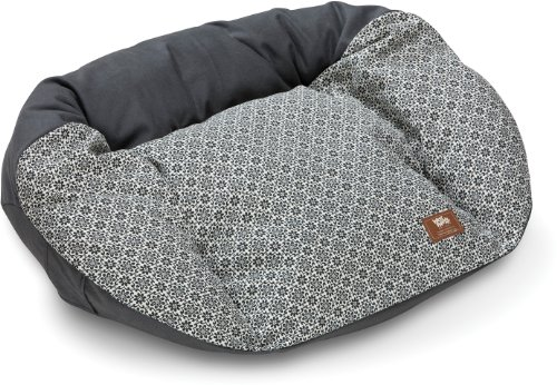 West Paw Design Hemp Tuckered Out Medium 32 by 23-Inch Dog Stuffed Bed, Coal
