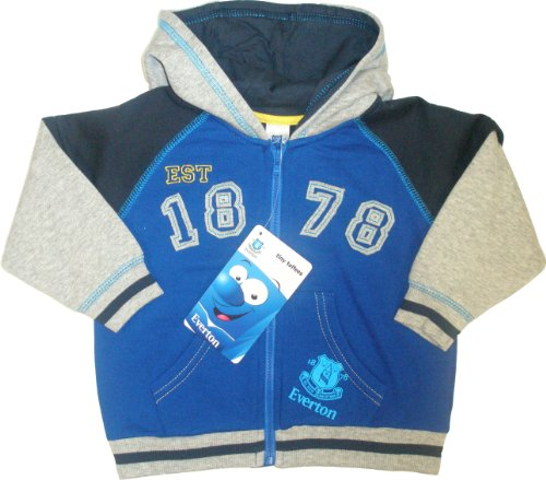 Everton Football Club Fleece Hoody With Pockets (Blue,3-6 months)