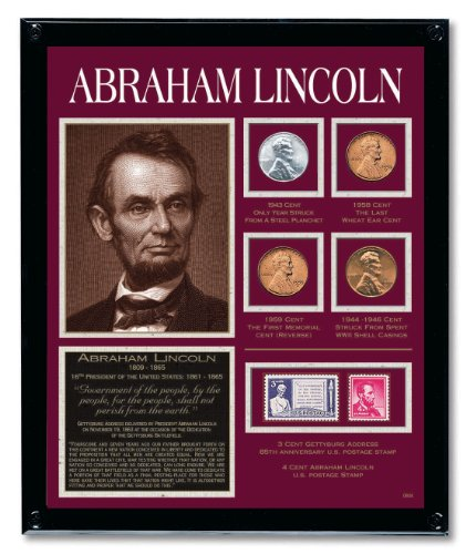 Lincoln Framed Tribute Collection with Collectible Coins