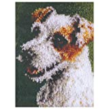 51niQ4LOqyL. SL160  Caron WonderArt 15x20 Latch Hook Kit: Jack Russell