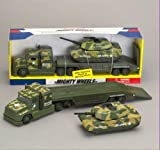 DELUXE MILITARY ARMY TRUCK & TOY TANK TRANSPORTER PLAYSET