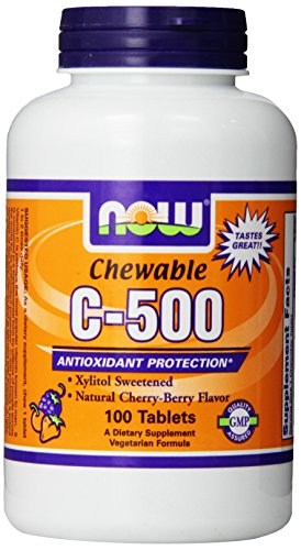 海外直送品 Now Foods Vitamin Cー500 Cherry Chewable, 100 Tabs