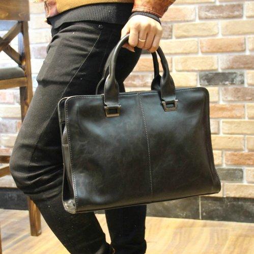 Vintage Mens Leather Shoulder Briefcase Attache 13 Inch Laptop Bag Tote front-211535