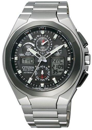 CITIZEN (シチズン) 腕時計 ATTESA アテッサ Eco-Drive エコ・ドライブ 電波時計 ジェットセッター ATV53-2833 メンズ