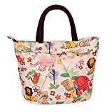 Zoo Women Girl Embrace Shape Cotton Rope Handle Many Color Organizer Tidy Camp Handbag Pouch Bag