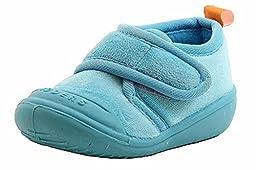 SkidDERS Velcro Gripper Slipper (Infant/Toddler), Turquoise, 20-24 Months M US Toddler