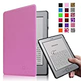 Fintie Kindle 5 & Kindle 4 Ultra Slim Case - The Thinnest and Lightest PU Leather Cover with Magnet Closure (Only Fit Amazon Kindle With 6'' E Ink Display, does not fit Kindle Paperwhite, Touch, or Keyboard), Violet